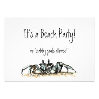 El fiesta de encargo de la playa no invita a ningú invitación