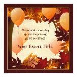 El fiesta de encargo de las hojas del árbol de los invitación