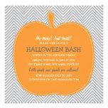 El fiesta de Halloween de la calabaza de Chevron i Invitaciones Personales
