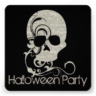 El fiesta de Halloween de la mirada del brillo de Invitaciones Personales