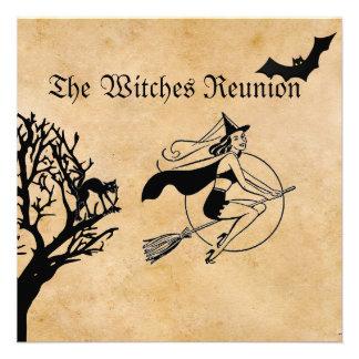 El fiesta de Halloween de la reunión de las brujas Anuncio Personalizado
