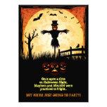 El fiesta de Halloween del claro de luna del espan Invitacion Personalizada