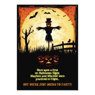 """El fiesta de Halloween del claro de luna del Invitación 5"""" X 7"""""""