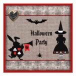 El fiesta de Halloween del país de las maravillas  Comunicados Personalizados