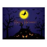 El fiesta de Halloween del vintage invita con el t Postales