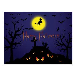 El fiesta de Halloween del vintage invita con el Tarjetas Postales