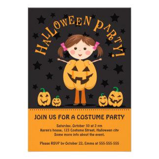 El fiesta de Halloween invita con el chica de la l Comunicado Personal