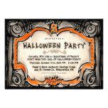 El fiesta de Halloween invita - frontera del negro Invitacion Personalizada