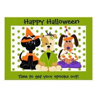 El fiesta de Halloween invita Comunicados
