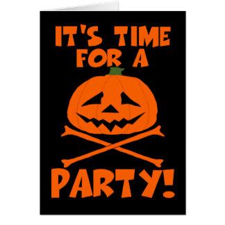 El fiesta de Halloween invita Felicitacion