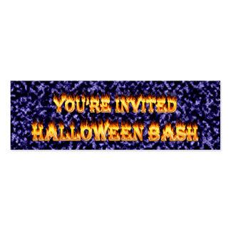 el fiesta de Halloween invita Tarjetas De Visita Mini