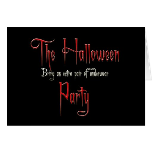 El fiesta de Halloween Tarjeta