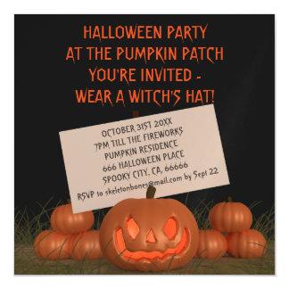El fiesta de la calabaza de Halloween invita a la Invitaciones Magnéticas