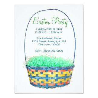 El fiesta de la cesta de Pascua invita Invitación 10,8 X 13,9 Cm