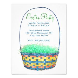 """El fiesta de la cesta de Pascua invita Invitación 4.25"""" X 5.5"""""""