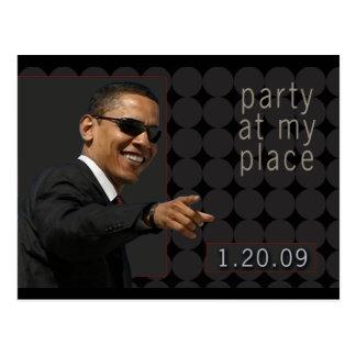 El fiesta de la inauguración de Obama invita Tarjetas Postales