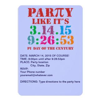 El fiesta de la invitación 2015 del día del pi