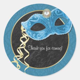 El fiesta de la mascarada le agradece pegatina -