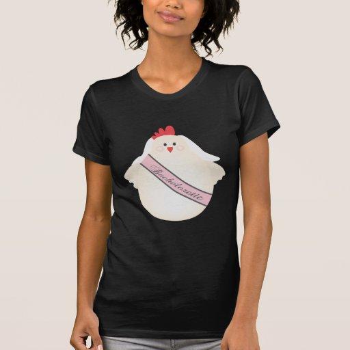 El fiesta de la noche del pollo de la gallina de B Camisetas