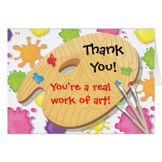 El fiesta de la pintura del arte le agradece las tarjeta pequeña