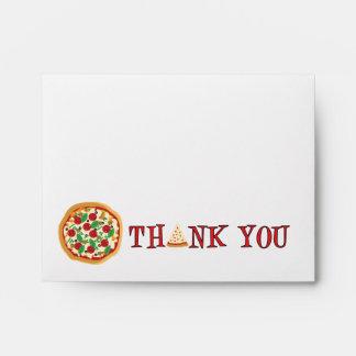 El fiesta de la pizza le agradece sobre