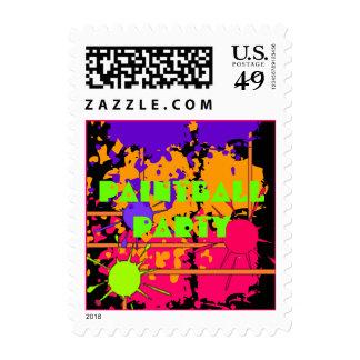 El fiesta de la salpicadura de Paintball sella Sello Postal