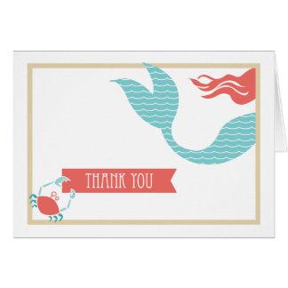 El fiesta de la sirena el | le agradece cardar tarjeta pequeña