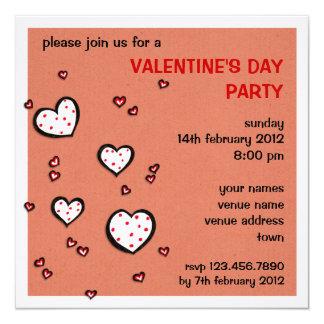 El fiesta de la tarjeta del día de San Valentín Invitación 13,3 Cm X 13,3cm