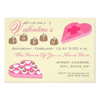 """El fiesta de la tarjeta del día de San Valentín Invitación 5"""" X 7"""""""