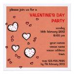 El fiesta de la tarjeta del día de San Valentín ro Invitaciones Personales