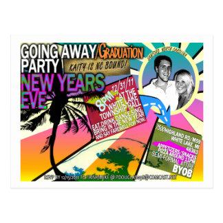 el fiesta de los Años Nuevos de los kaity INVITA Postal