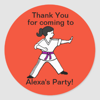 El fiesta de los artes marciales de Alexa le Pegatina Redonda