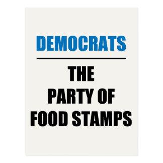 El fiesta de los bonos de racionamiento tarjetas postales