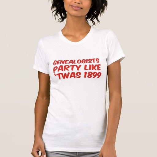El fiesta de los Genealogists tiene gusto de 'Twas Camiseta