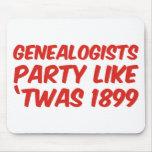 El fiesta de los Genealogists tiene gusto de 'Twas Tapetes De Ratón