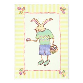 """El fiesta de lúpulo del conejito de pascua invita invitación 5"""" x 7"""""""