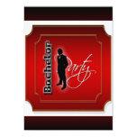 El fiesta de macho elegante del soltero invitación 12,7 x 17,8 cm