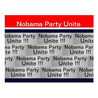 El fiesta de Nobama une Tarjetas Postales
