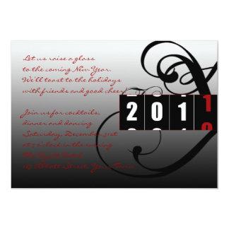 El fiesta de Noche Vieja de Coutdown 2010 a 2011 Invitación 12,7 X 17,8 Cm