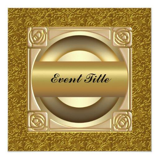 El fiesta de Noche Vieja invitan Invitación 13,3 Cm X 13,3cm