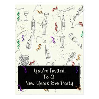 El fiesta de Noche Vieja Tarjetas Postales