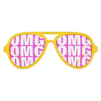 El fiesta de OMG sombrea los vidrios de neón locos Lentes De Sol