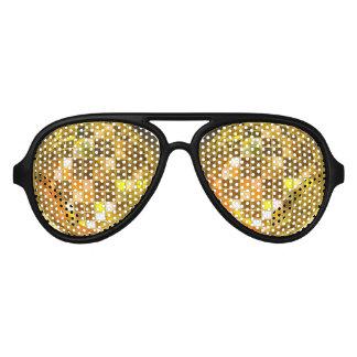 El fiesta de oro de la bola de discoteca sombrea lentes de sol