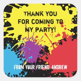 El fiesta de Paintball le agradece pegatina