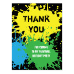 El fiesta de Paintball le agradece postal