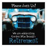 El fiesta de retiro del coche antiguo de Customize Anuncio Personalizado