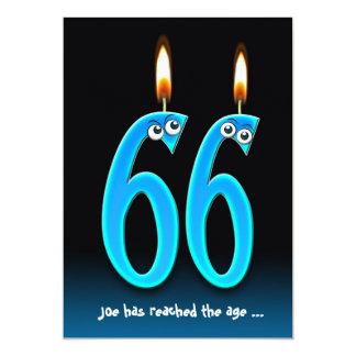 """El fiesta de retiro en la edad 66 invita invitación 5"""" x 7"""""""