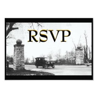 """El fiesta de rugido RSVP de los años 20 invita Invitación 3.5"""" X 5"""""""