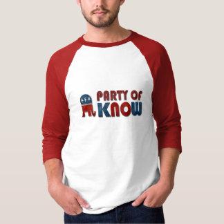El fiesta de sabe el GOP divertido Playera