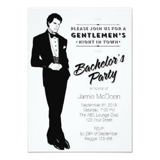 El fiesta de soltero apuesto invitación personalizada